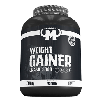 Mammut - Weight Gainer Crash 5000, 4500g Dose