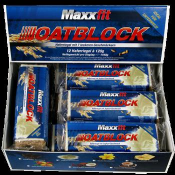 Maxxfit - Oatblock Haferriegel, 12x120g Riegel