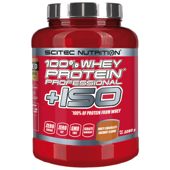 Scitec Nutrition - 100% Whey Protein Professional + ISO, 2280g Dose