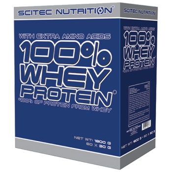 Scitec Nutrition - 100% Whey Protein, 60x30g Portionsbeutel-Variety-Pack