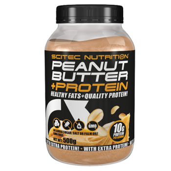 Scitec Nutrition - Peanut Butter + Protein, 500g Dose