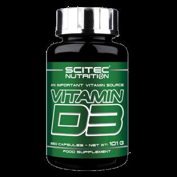 Scitec Nutrition - Vitamin D3, 250 Kapseln