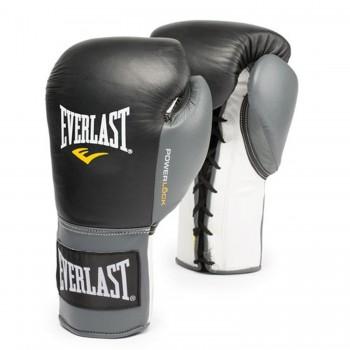 Everlast Boxhandschuhe Powerlock Pro Laced Schwarz/Grau