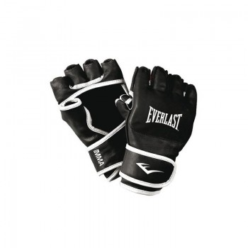 Everlast MMA Handschuhe Leder - Schwarz/Weiß