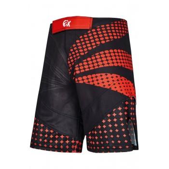 PX MMA Shorts schwarz-rot,...