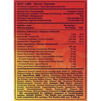 AK47 Labs Fatburner - 60 caps