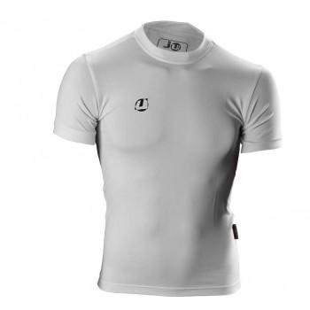 Compression Shirt kurzarm weiß