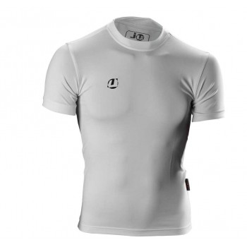 Compression Shirt kurzarm weiß