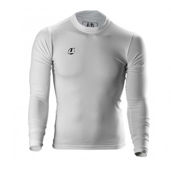 Compression Shirt langarm weiß