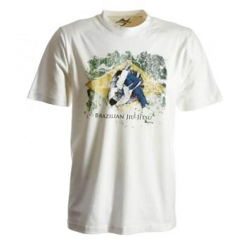 BJJ-Shirt Ground Warrior weiß