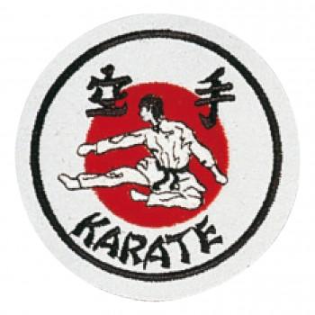 Stickabzeichen Karate weiß/rot