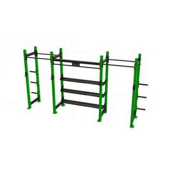 Power Rack 2-1 mit Regalen