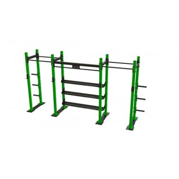 Power Rack 2-1 mit Regalen...