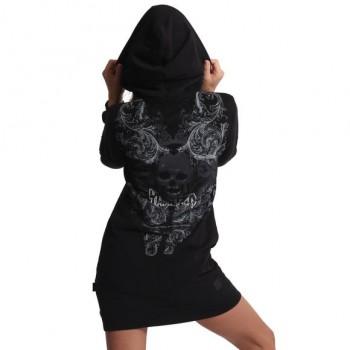 Dark Tribe Hoodie Kleid,...