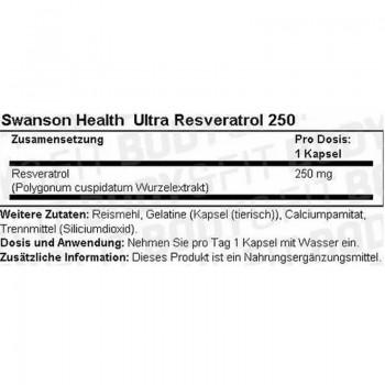 Swanson Resveratrol 30 Kapseln