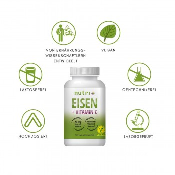 nutri+ Eisen + Vitamin C,...