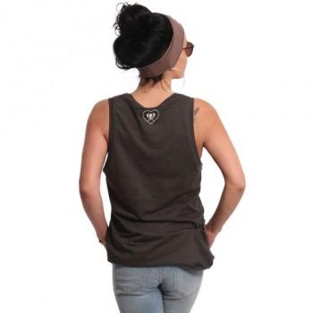 Owl Tank Shirt, black ink