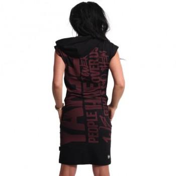 Power Hooded T-Shirt Kleid,...