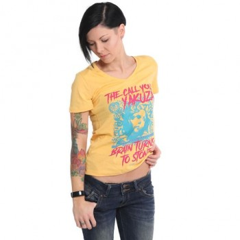 Stone V-Neck T-Shirt,...