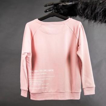 BE NICE Rosa Sweatshirt Damen
